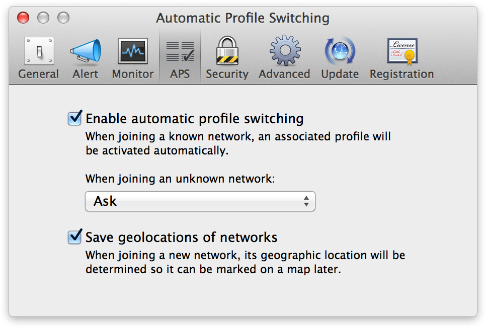 Automatic Profile Switching Preferences