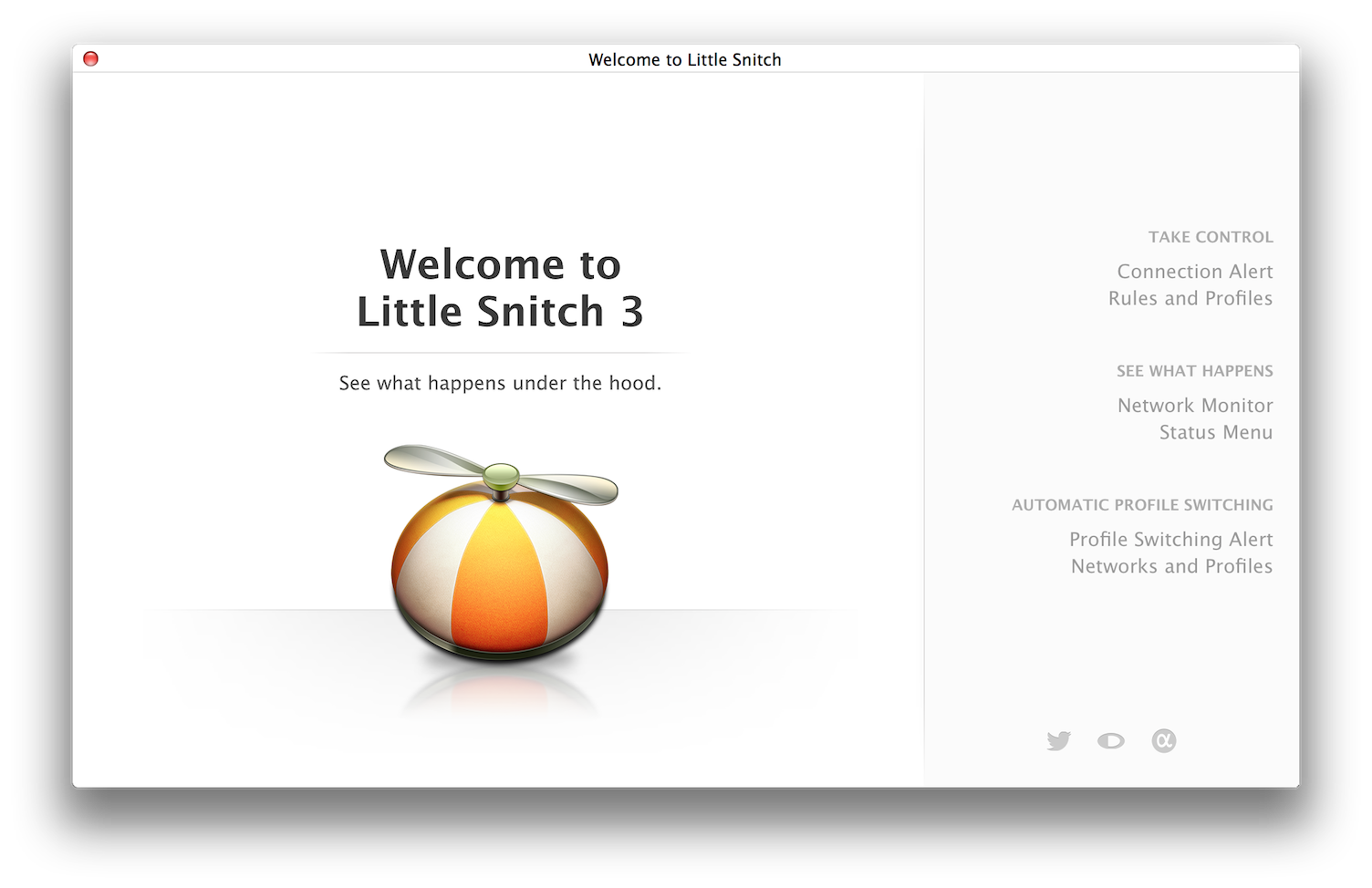 Little Snitch Welcome Window